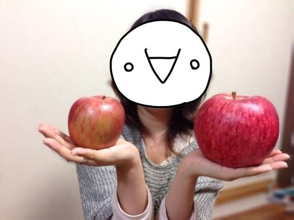 [Å] デカっ!「世界一」のリンゴに衝撃を受けたお話