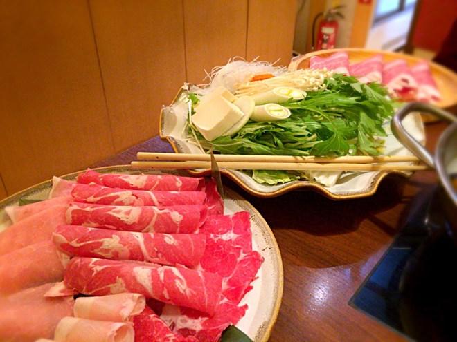 野菜とお肉の盛り合わせ