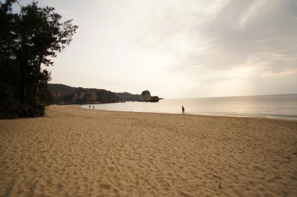 辺り一面砂浜