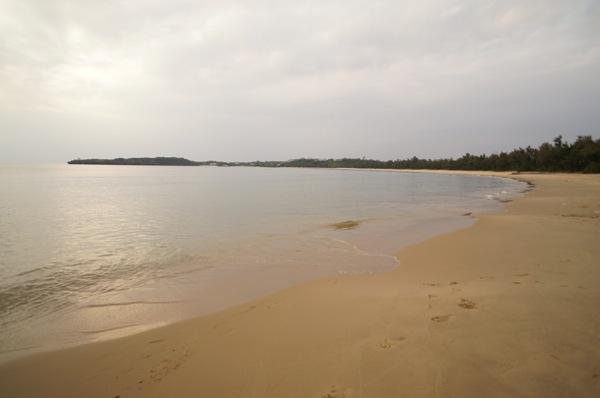 辺り一面砂浜!