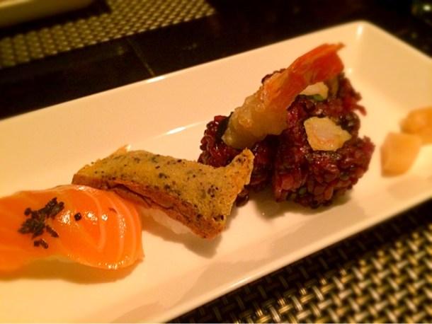 季節の握り寿司と本日のロール寿司