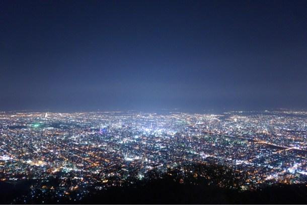 藻岩山 夜景