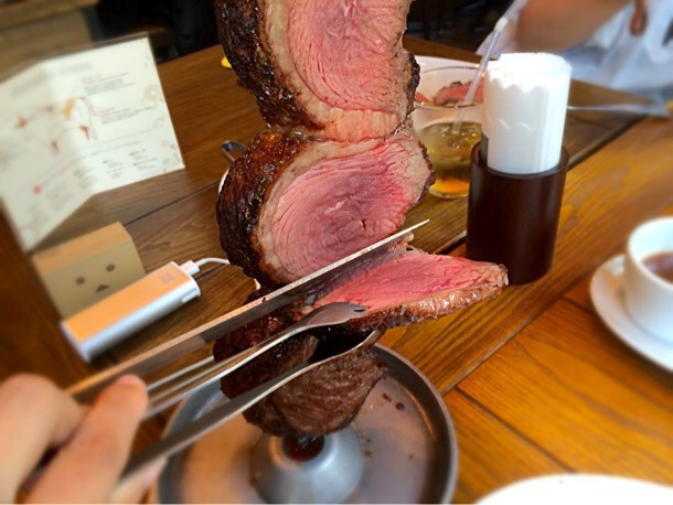 [Å] 渋谷のシュラスコで肉・肉・肉!バルバッコアのランチで肉の塊・サラダ・デザート食べ放題!