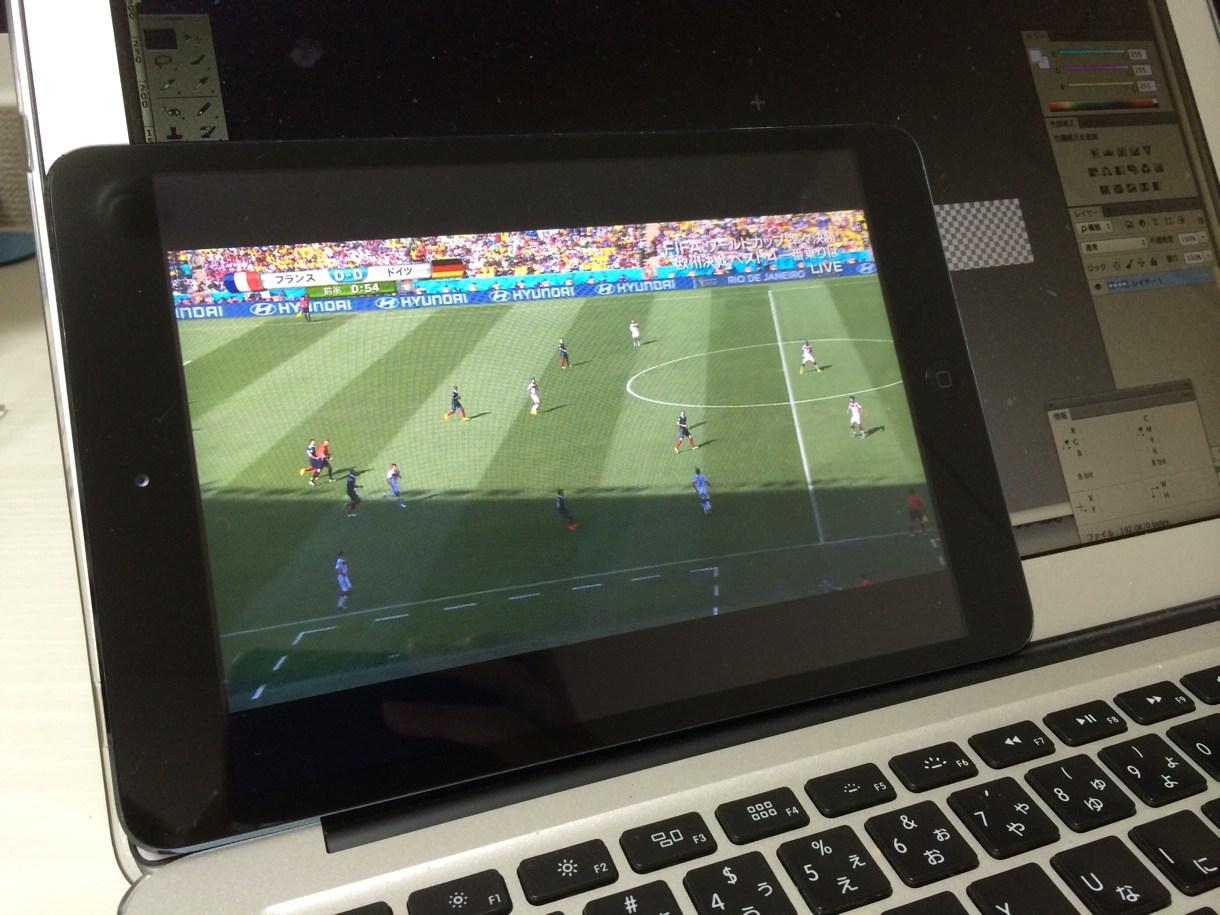 iPad miniでテレビ