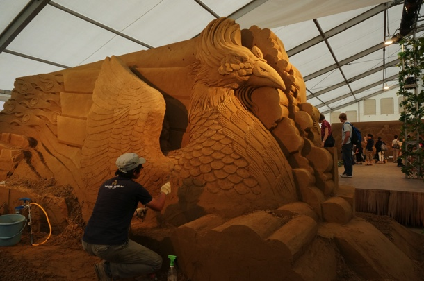 ヨコハマ砂の彫刻展