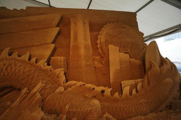 ヨコハマ砂の彫刻展 横浜景色