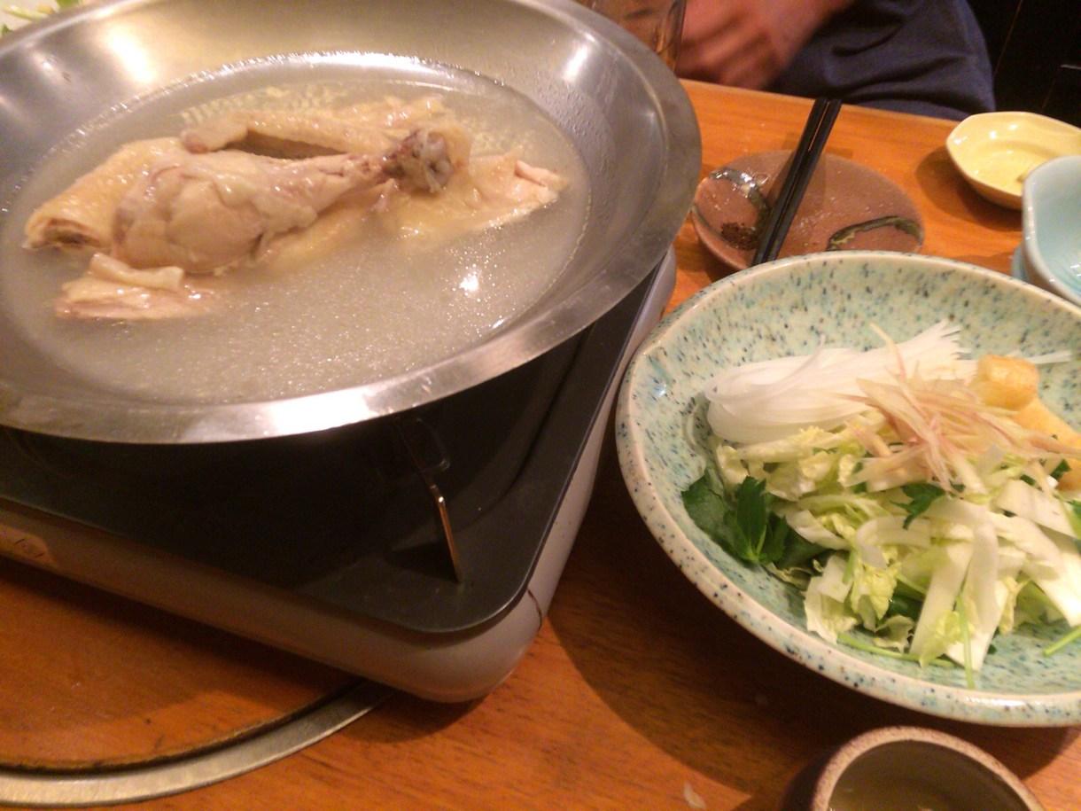 桜島鶏の丸鶏鍋