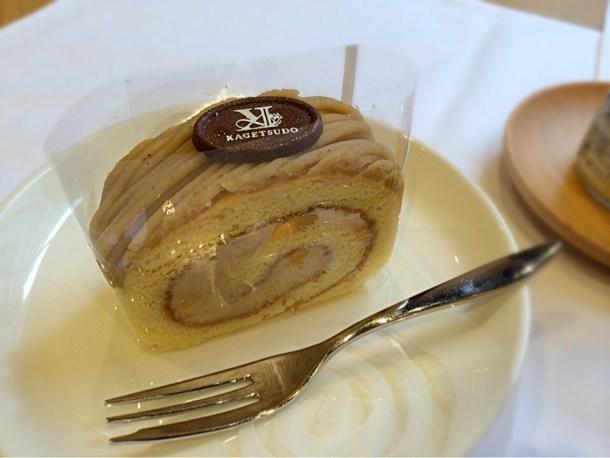 キャラメルもんぶらんロール(ロールケーキの花月堂)600円/1ピース