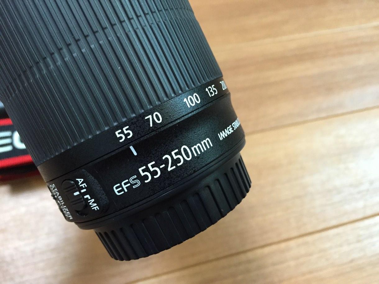 22-250mmのレンズ