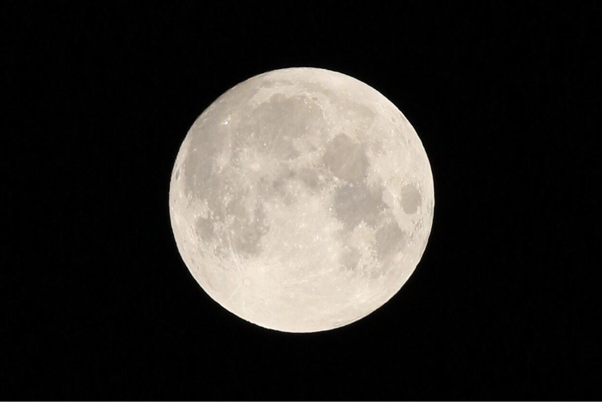 [Å] カメラ初心者な私でも三脚なしで綺麗に満月撮影できた!この設定はもう忘れたくない要保存!!