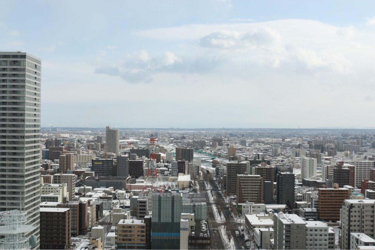 雪景色が美しい札幌の街