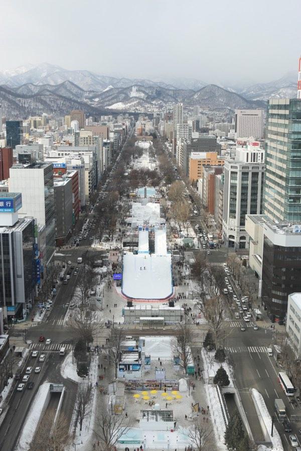 テレビ塔からの雪まつり