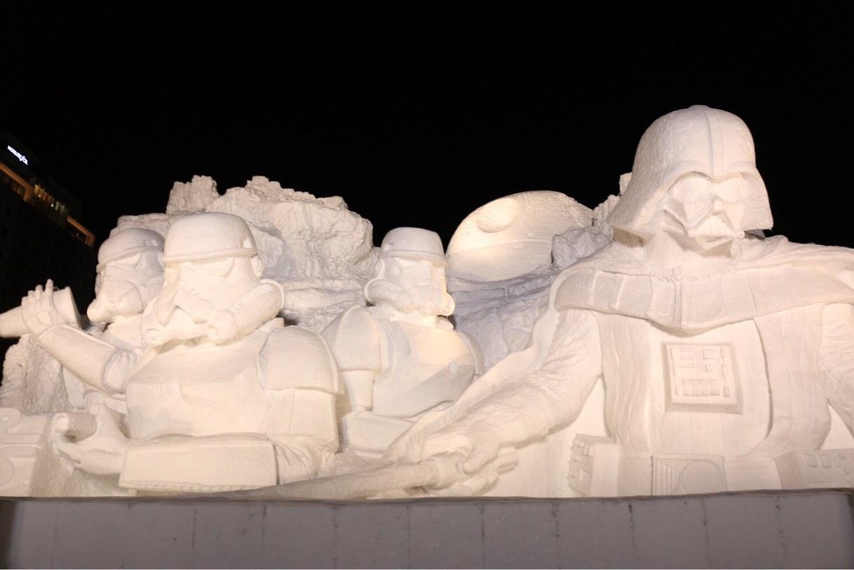 2015年 さっぽろ雪まつり スターウォーズ 雪の彫刻