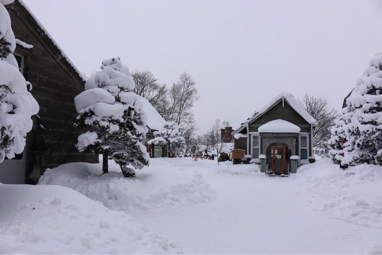 雪道の中を少し進むと…