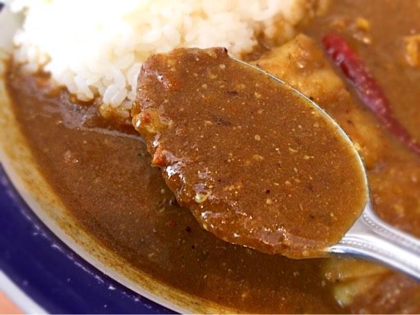エチオピアカレーの特徴の野菜が素人の私でも溶け込んでいるのがよくわかるルー