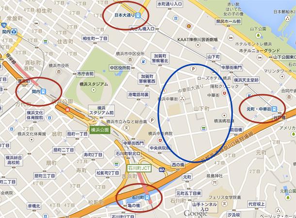 中華街全体MAP