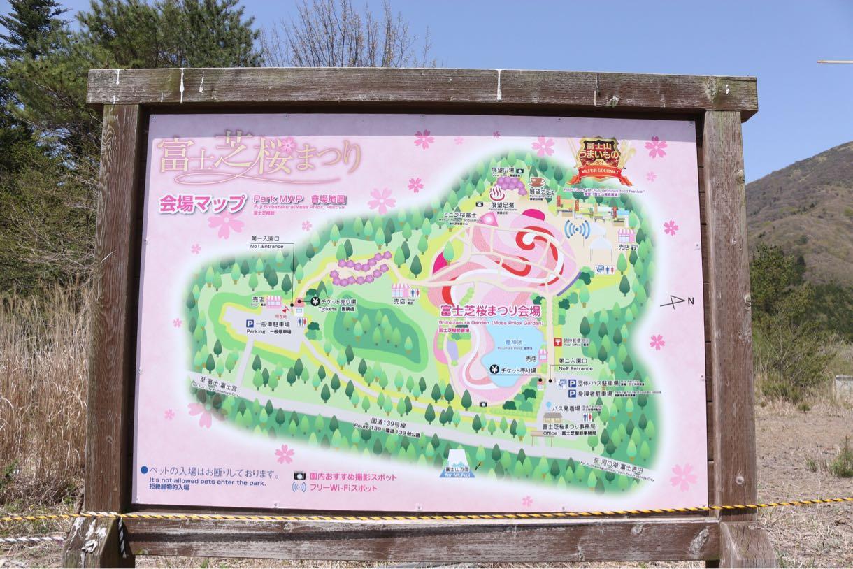 富士芝桜まつり 会場マップ