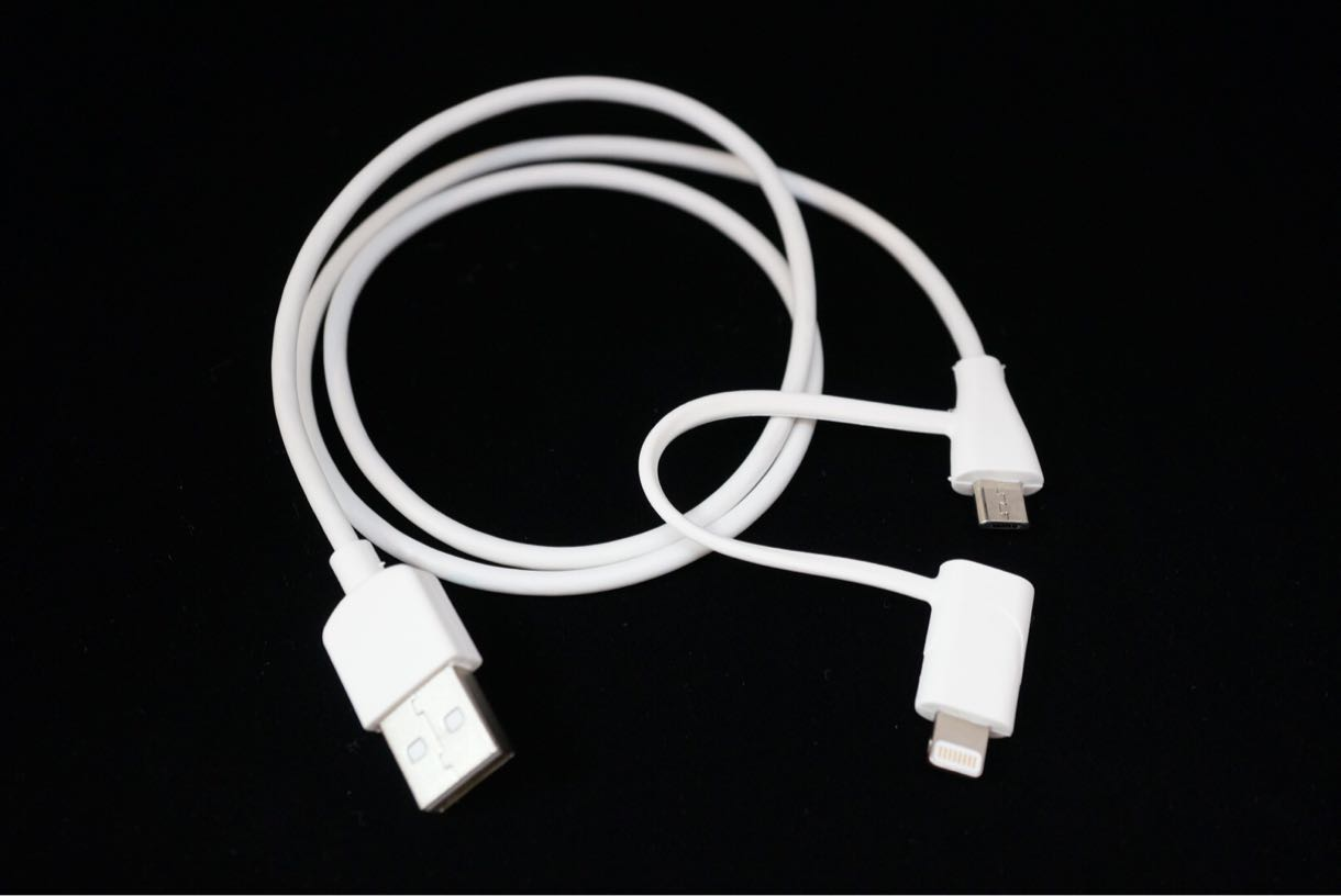 cheero 2 in 1 USB Cable ライトニングケーブル・Micro USB
