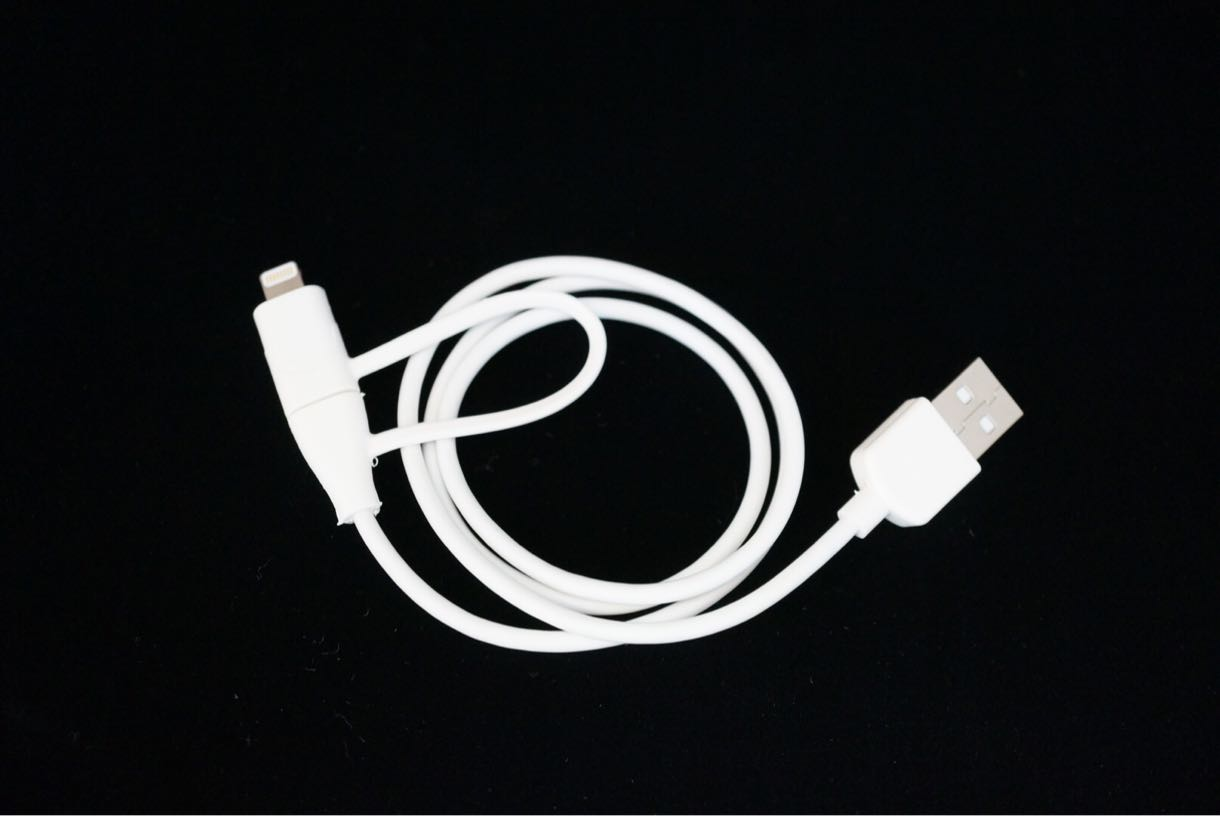 cheero 2 in 1 USB Cable 全体