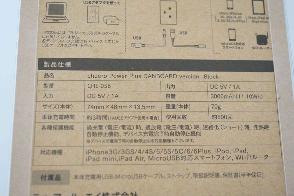 Power Plus DANBOARD Block 製品仕様