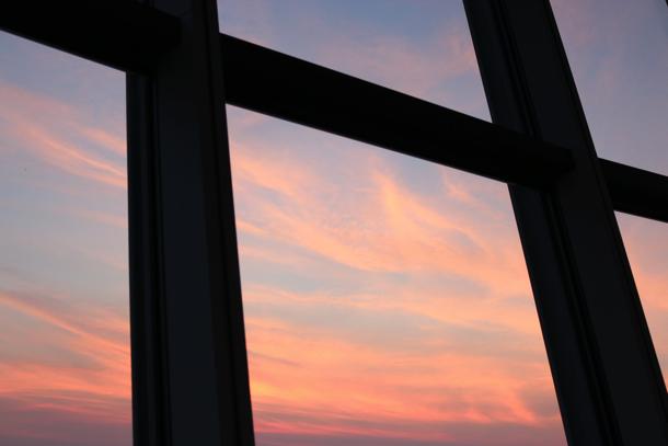 スカイツリーから見える赤い空
