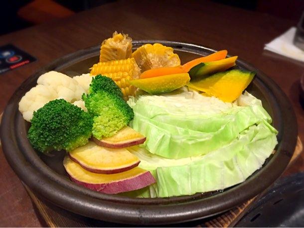 特選コース「蒸し野菜」