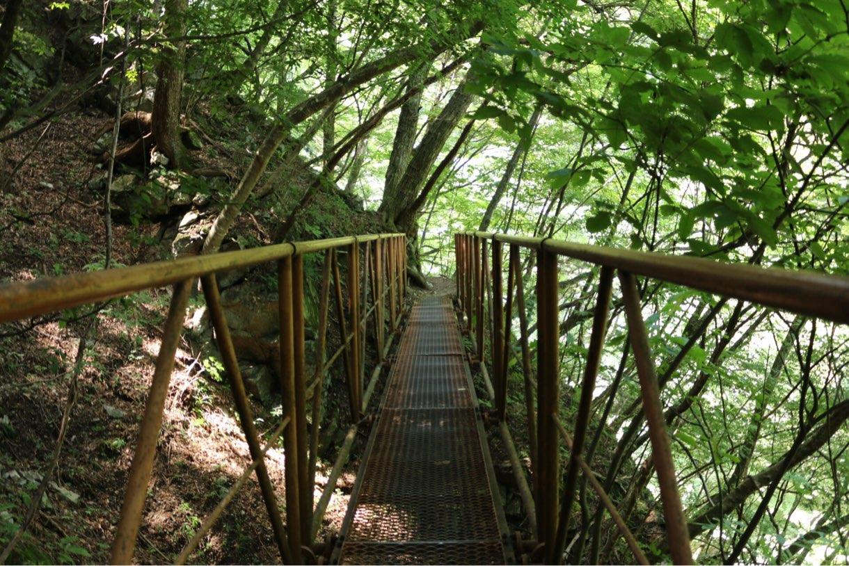 網目のつり橋