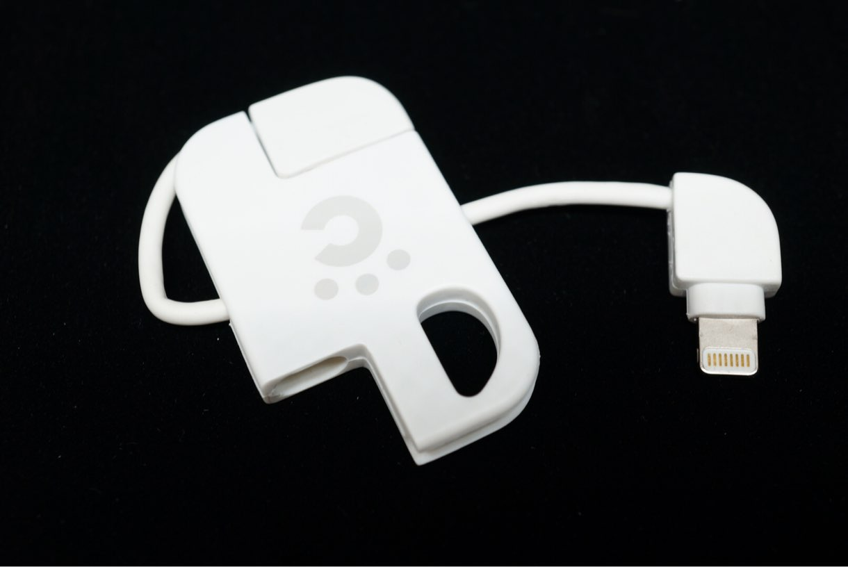cheero Plate Cable with Lightning USBの取り出し方