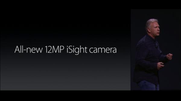 カメラの向上 12メガピクセル