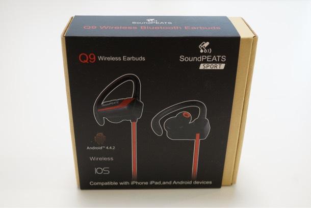 soundPEATS Q9 Bluetooth ワイヤレスイヤホン パッケージ