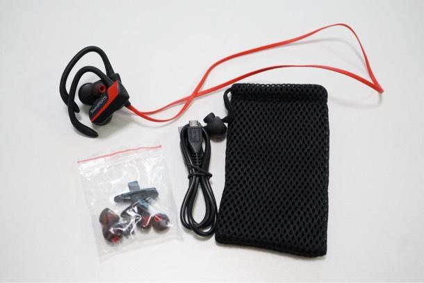 soundPEATS Q9 Bluetooth ワイヤレスイヤホン 本体と付属品の説明