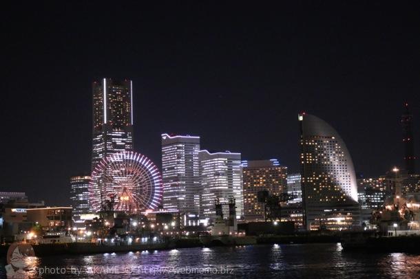 クルーズから眺める横浜・みなとみらいの夜景