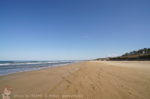 千里浜なぎさドライブウェイの景色