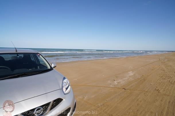 レンタカーと千里浜なぎさドライブウェイ