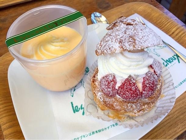 レ・シュー西鎌倉本店 人気No.1「にしかまプリン」とシュークリーム「レ・シュー」