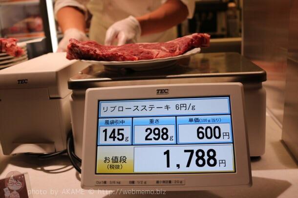 お肉を計り売り