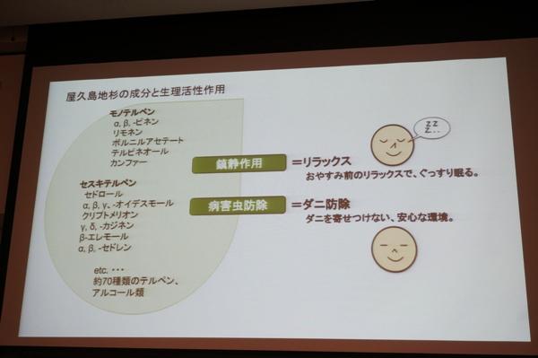 屋久島地杉の成分と生理活性作用