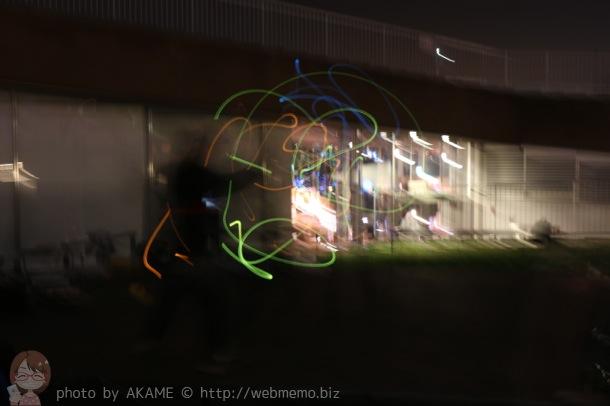 光の動きを撮影