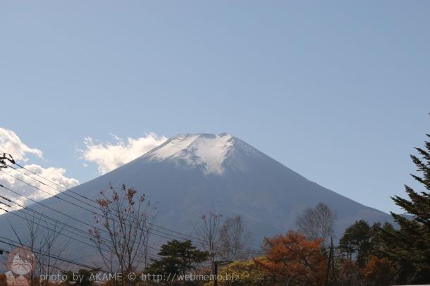 しのびの里から見える富士山