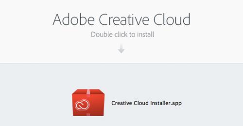 Adobe CC インストール画面
