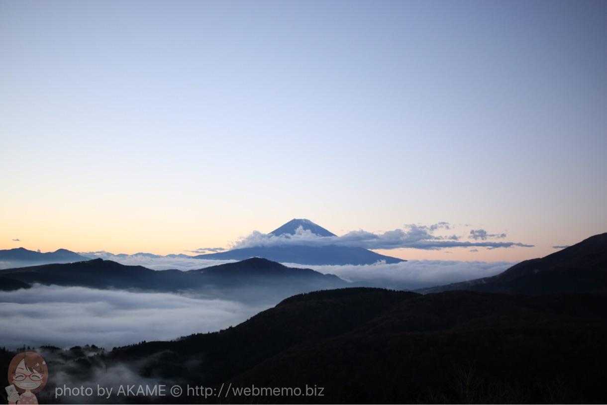 「EF-S2428STM」で撮影した雲海のような富士山