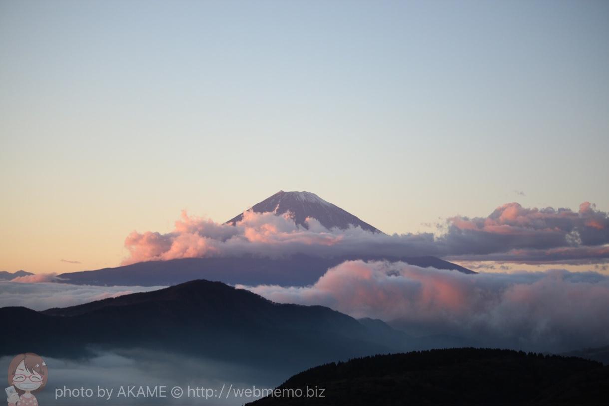 箱根大観山から眺めた富士山