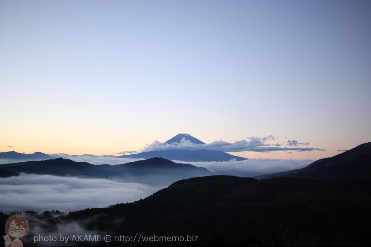 幻想的な富士山