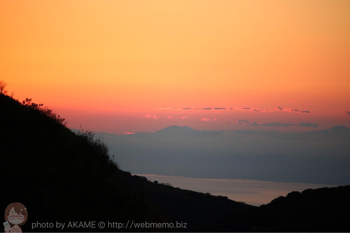 箱根の夕空