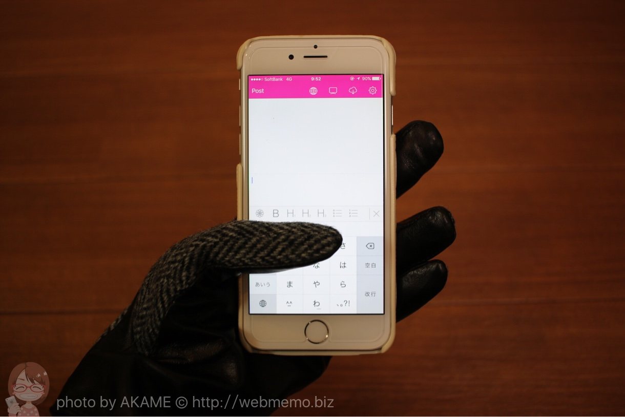 スマホ手袋 Hameeの「Touch Glove for Smartphone」