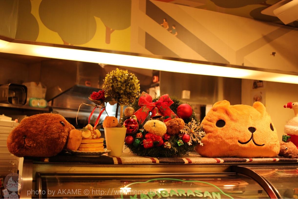 カピバラさんカフェ 店内 クリスマスの様子