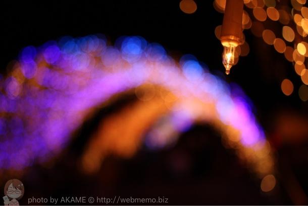 ライトと玉ボケ