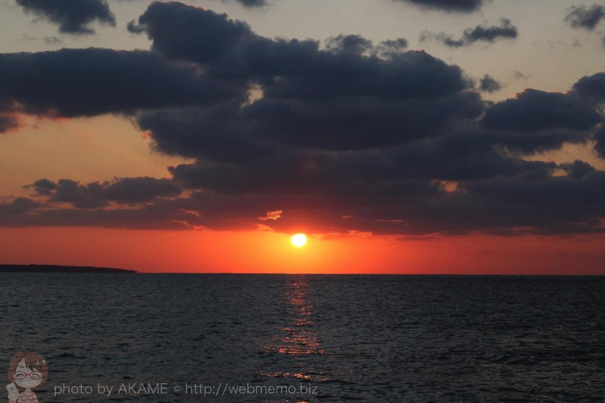 18時過ぎ頃から太陽が沈み始めました