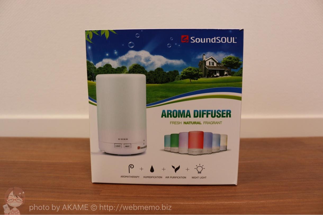 SoundSOULアロマディフューザーの箱