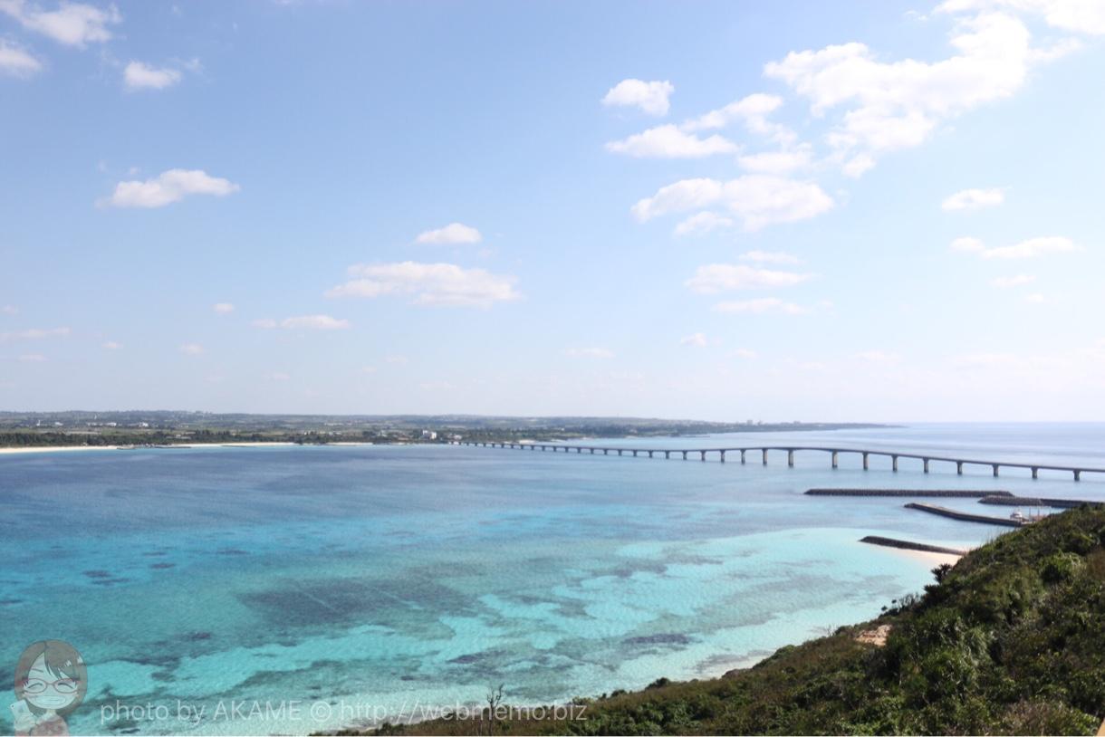 竜宮城展望台から見た来間大橋